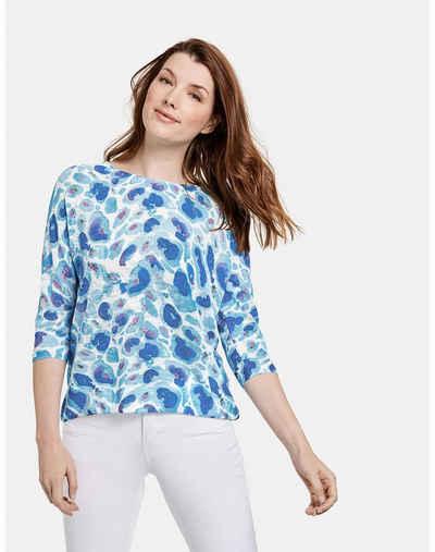 Taifun 3/4 Arm-Pullover »3/4 Arm Pullover mit Print« (1-tlg) Strickpullover