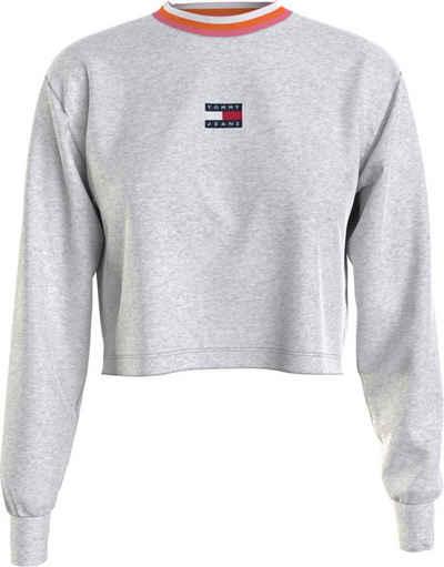 Tommy Jeans Langarmshirt »TJW BXY Crop Ringer Badge LS« mit kontrastfarbenen Details & Tommy Jeans Logo-Badge