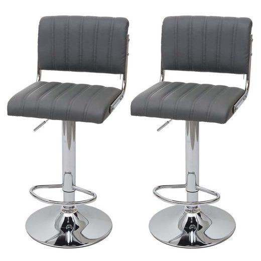 MCW Barhocker »MCW-F17«, Sitz-und Rückenfläche mit Ziernaht, Inklusive Fußablage, Um 360° drehbar, Stufenlos höhenverstellbar