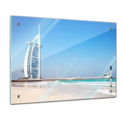 Bilderdepot24 Glasbild, Memoboard - Landschaft - Burj al Arab - Dubai