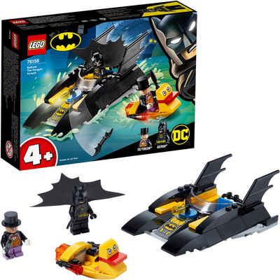 LEGO® Konstruktionsspielsteine »Verfolgung des Pinguins – mit dem Batboat (76158), LEGO® DC Comics Super Heroes«, (54 St)
