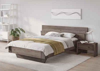 OTTO products Bett »Lorri«, aus massiven Kiefernholz, frei von Metallen, Vegan