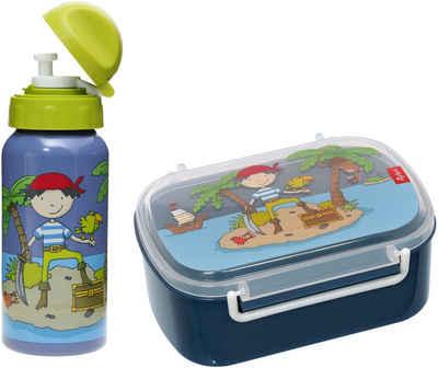 Sigikid Lunchbox »Sammy Samoa«, Polyprophylen (PP), Aluminium, Silikon, (Set, 2-tlg), mit Trinkflasche