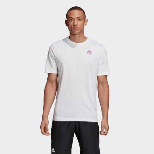 adidas Performance Kurzarmshirt »MEN TENNIS GRAPHIC LOGO T-SHIRT«