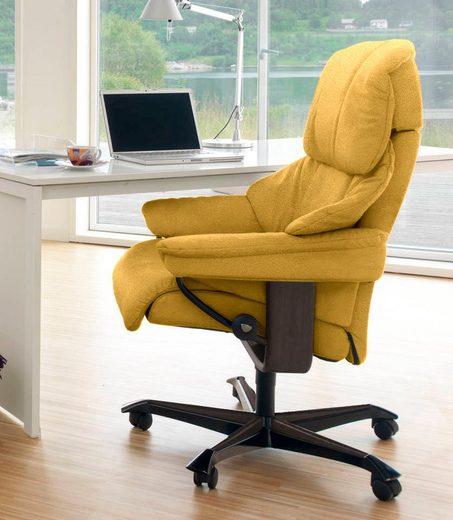 Stressless® Relaxsessel »Reno«, mit Home Office Base, Größe M, Gestell Wenge