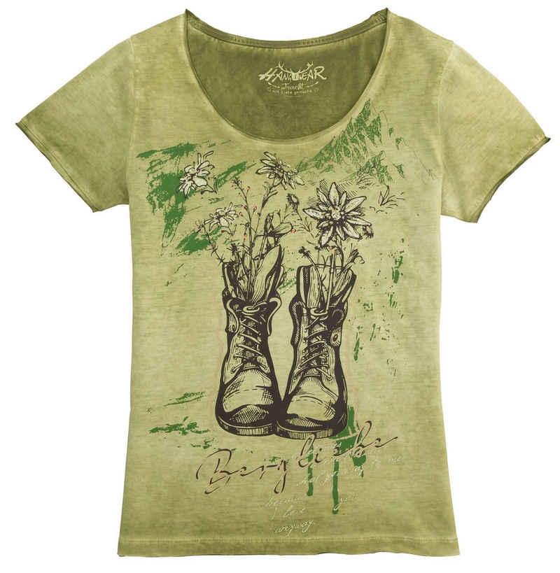Hangowear Trachtenshirt »Wiara« mit Glitzerelementen im Print