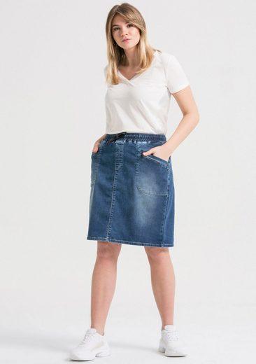 LTB Jeansrock »DELLA« mit leichter Waschung in angenehmer Sweat-Denim Qualität