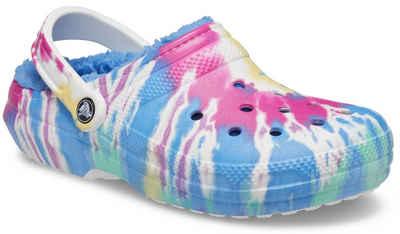 Crocs »Classic Lined Tie Dye Clog« Hausschuh mit Batik-Muster