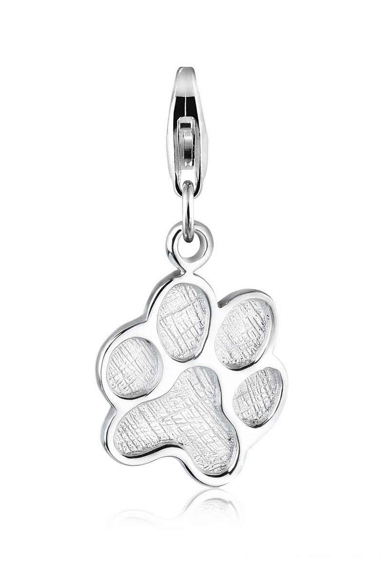 Elli Charm-Einhänger »Katze Hund Pfote Tier 925 Silber«, Pfote