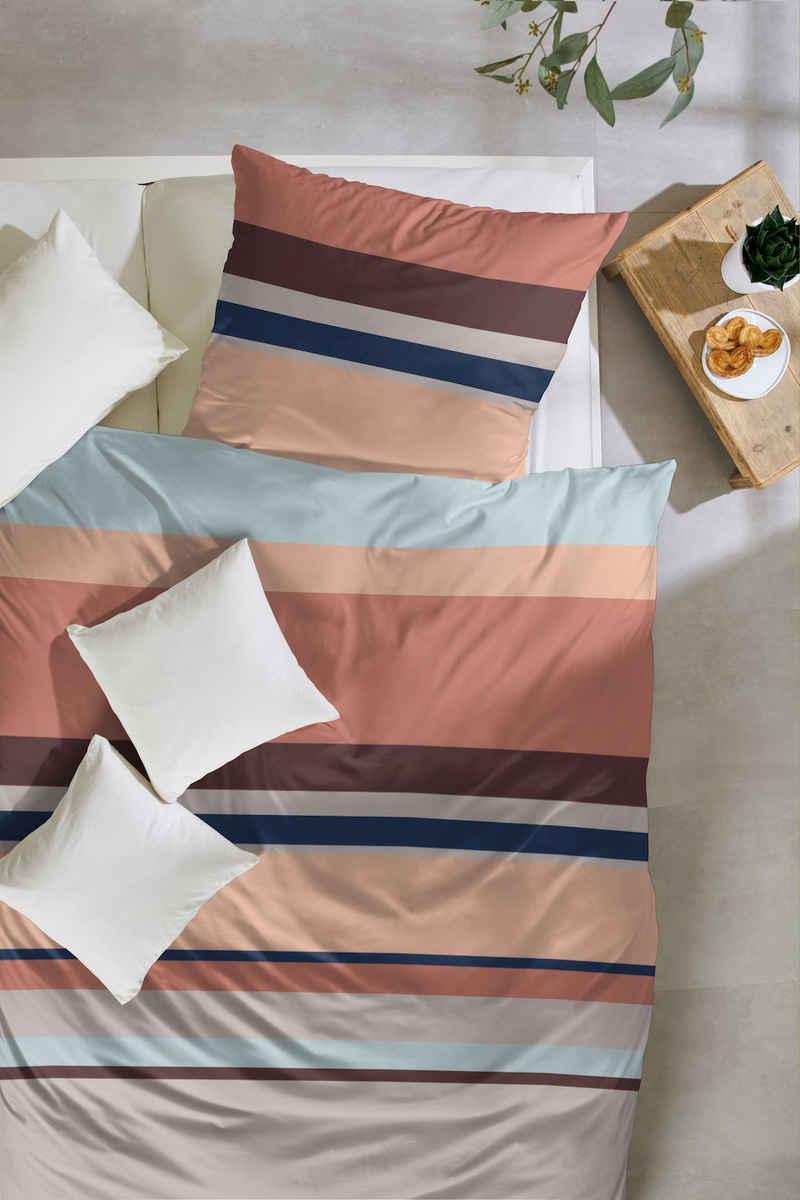 Bettwäsche »Edelflanell-Bettwäsche Baumwolle Kissenbezug mit Reißverschluss«, Giancasa, mit Reißverschluss