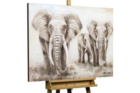 KUNSTLOFT Gemälde »Big Family«, handgemaltes Bild auf Leinwand