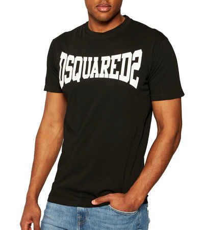 Dsquared2 T-Shirt »DSQUARED2 T-Shirt komfortables Herren Rundhals-Shirt Made in Italy Sommer-Shirt Schwarz/Weiß«