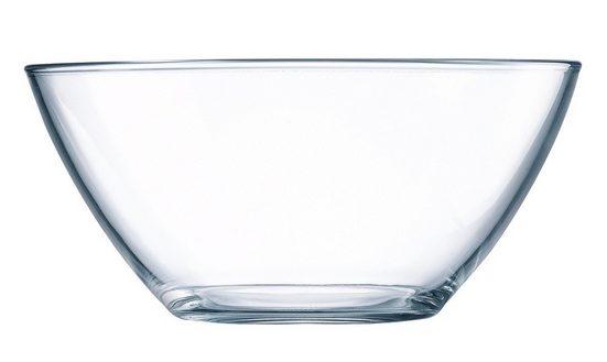 Luminarc Salatschüssel »Cosmos«, Glas, Schale Stapelschale Schüssel 12cm 390ml Glas transparent 1 Stück