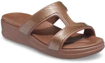 Crocs »Crocs Monterey Metallic« Pantolette mit Bandage im Metallic Look