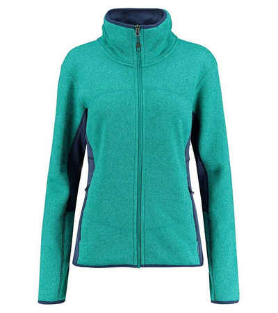 Kaikkialla Outdoorjacke »KAIKKIALLA Vappu Fleece-Jacke sportliche Damen Übergangs-Jacke aus warmen und atmungsaktivem Fleece Wander-Jacke Blau«