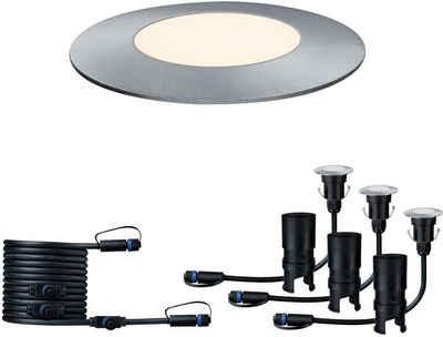 Paulmann LED Einbauleuchte »Outdoor Plug & Shine Ergänzungsset Floor Mini«, 3000K