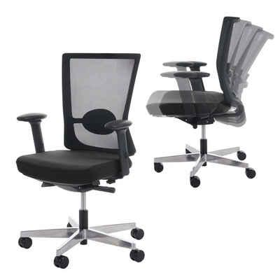 MCW Schreibtischstuhl »Karlstad«, Netzbespannung für verbesserte Luftzirkulation am Rücken, Ergonomisch geformt