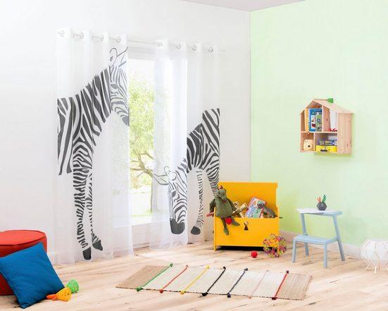 Gardine »Zebra«, my home, Ösen (2 Stück)