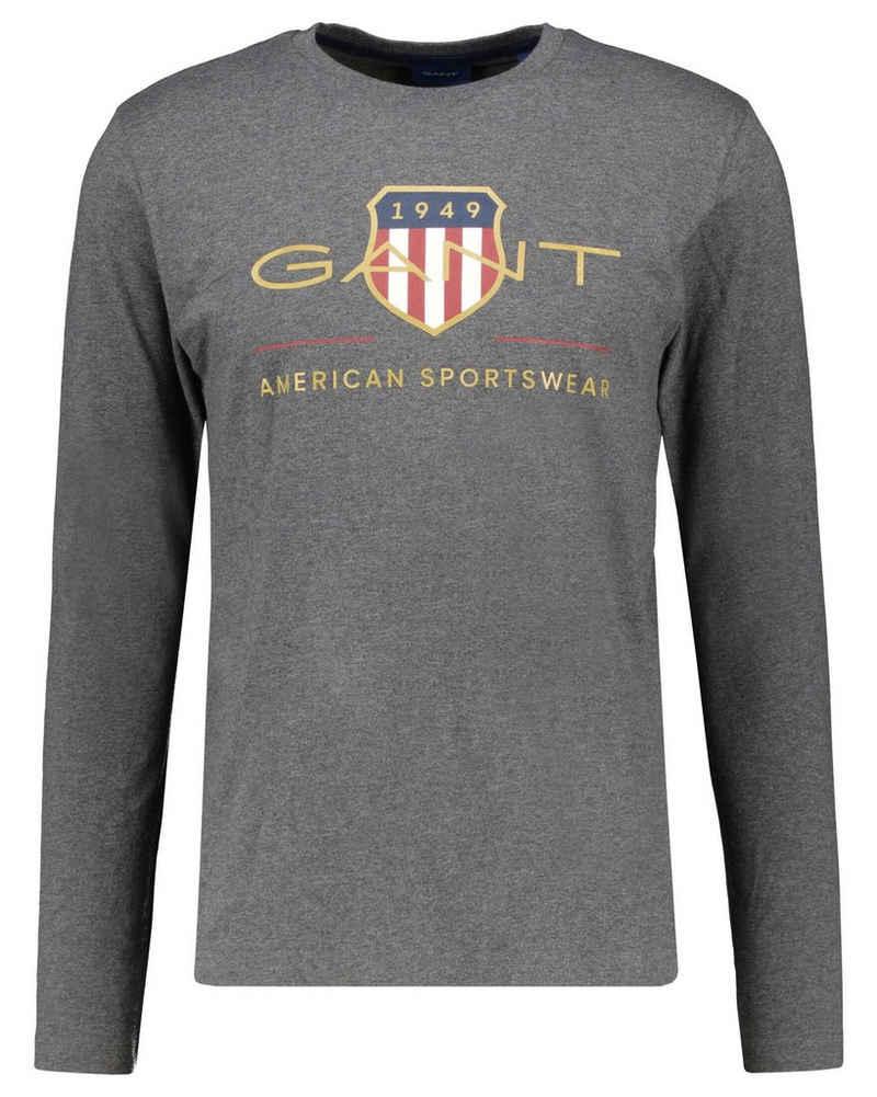 Gant T-Shirt »Herren Shirt ARCHIVE SHIELD Langarm«