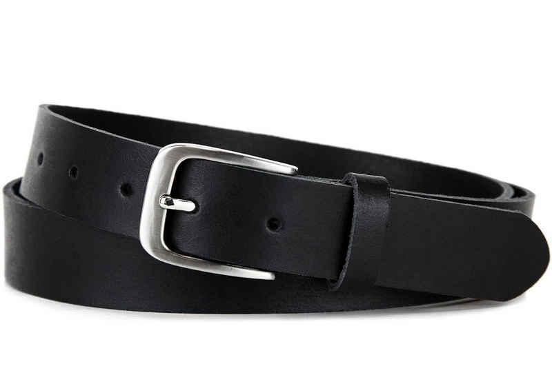 Frentree Ledergürtel »LG-01-BK« Kürzbar, 100% Echtleder, Aus einem Stück, MADE IN GERMANY, Schwarz, Unisex