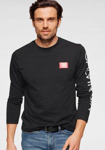 Calvin Klein Langarmshirt »TEXT REVERSED LOGO LS T-SHIRT«