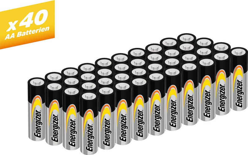 Energizer »Alkaline Power Mignon (AA) 40 Stück« Batterie, (40 St)