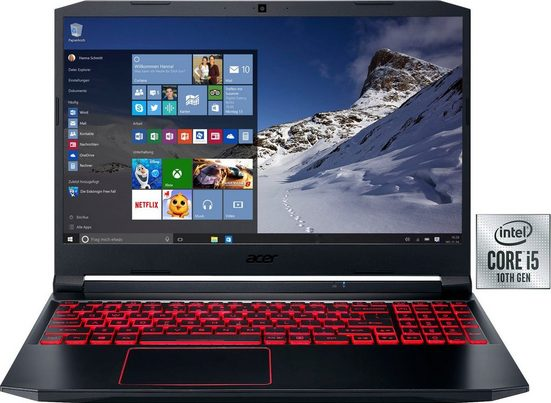 Acer Nitro 5 Notebook (39,62 cm/15,6 Zoll, Intel Core i5, GeForce GTX 1650 Ti, - GB HDD, 512 GB SSD, inkl. Office-Anwendersoftware Microsoft 365 Single im Wert von 69 Euro)