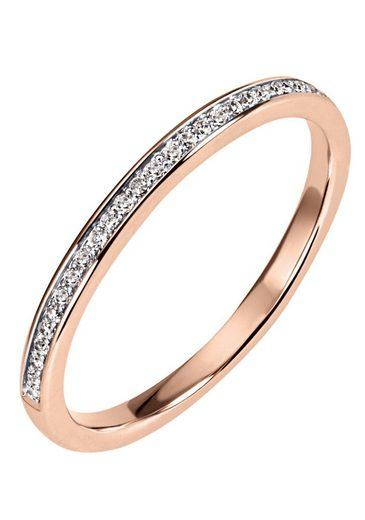 Firetti Diamantring »Ca. 2 mm breit, Kanalfassung, Glanz, massiv«, mit Brillanten