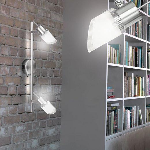 WOFI Wandleuchte, LED Decken- und Wand Lampe Leuchte Spots Strahler beweglich Glas Beleuchtung