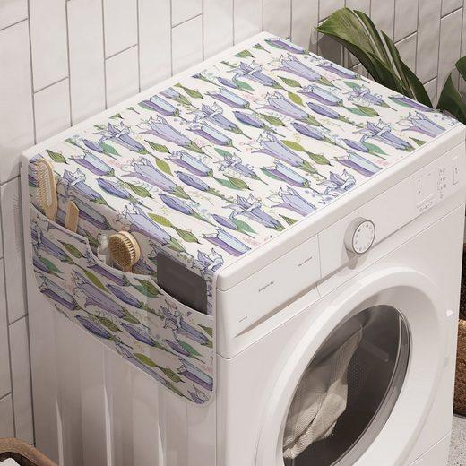 Abakuhaus Badorganizer »Anti-Rutsch-Stoffabdeckung für Waschmaschine und Trockner«, Blumen Wilde Bluebell-Blumen-Kunst