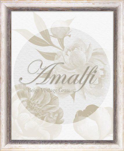 BIRAPA Bilderrahmen »Bilderrahmen Amalfi«, (1 Stück), 20x20 cm, Braun Weiß Vintage, Holz