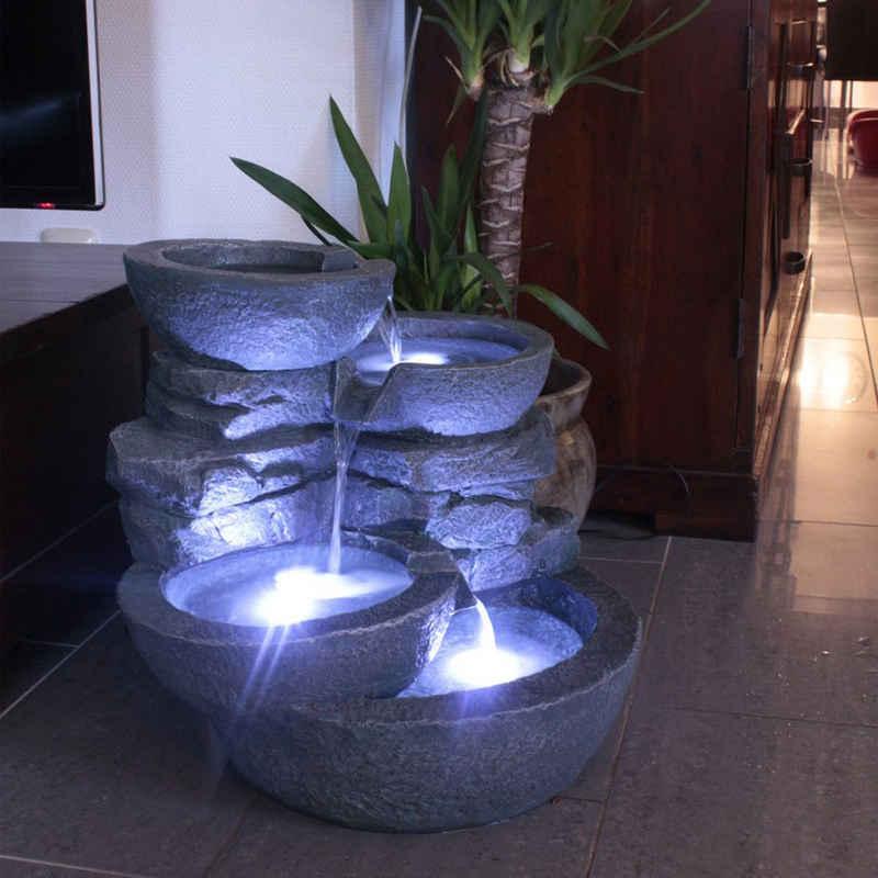 Arnusa Zimmerbrunnen »Gartenbrunnen Cascades«, mit LED Beleuchtung Indoor und Outdoor