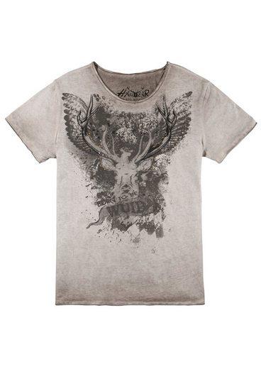Hangowear Trachtenshirt mit Print und Nieten