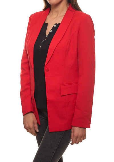 GUIDO MARIA KRETSCHMER Kurzblazer »GUIDO MARIA KRETSCHMER Jacke elastischer Damen 1-Knopf-Blazer mit Reverskragen Jackett Rot«
