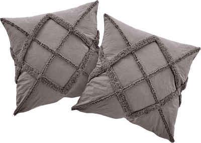 Kissenhüllen »Monnia«, OTTO products (2 Stück), mit 3D Muster