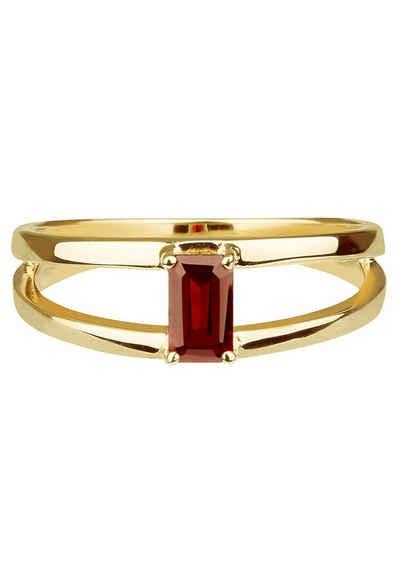 Carolin Stone Jewellery Silberring »Charming Imaginative - Silberring roter Granat«
