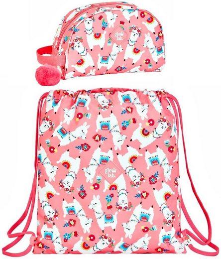 safta Sporttasche »Lama - Sportbeutel und Kosmetiktasche, rosa« (Reißverschluss, Mädchen), Geringes-Gewicht