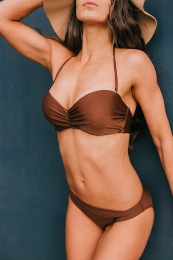 AvaMia Bügel-Bikini »Style2« vorgeformtes Bandeau-Bikinitop mit Bikinihose Low
