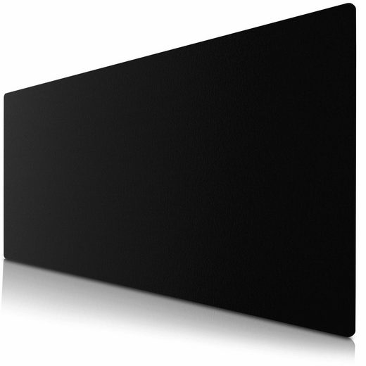 CSL Mauspad, Mauspad Schreibtischunterlage XXL Format Elegante Leder Optik / 900 x 400 mm Mousepad