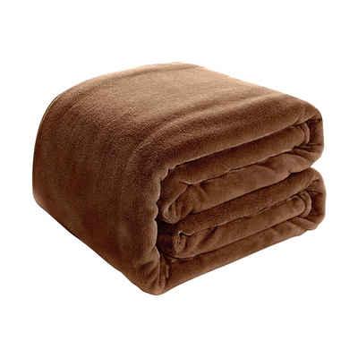 Wohndecke »Einfarbig Mikrofleece Bequeme Decke Qualitätsdecke Kuscheldecke Bettdecke«, i@home