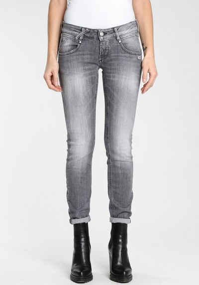 "GANG Skinny-fit-Jeans »""NENA-CROPPED""« authentische Waschung mit Usedeffekten"