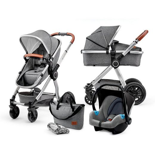 Kinderkraft Kombi-Kinderwagen »Kombi Kinderwagen Veo, 3in1, grey«