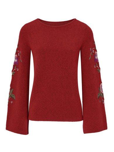 heine CASUAL Pullover mit Stickerei