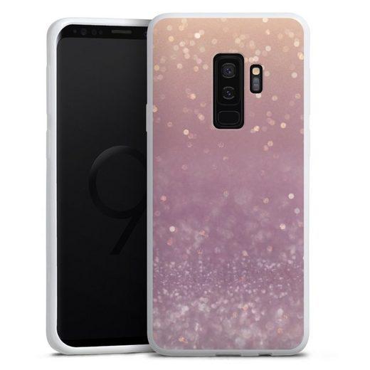 DeinDesign Handyhülle »Tender Gleam Glitterlook« Samsung Galaxy S9 Plus, Hülle Glitzer Look Schneeflocken Muster