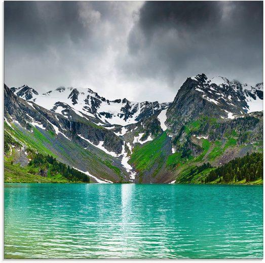 Artland Glasbild »Bergsee«, Berge (1 Stück)