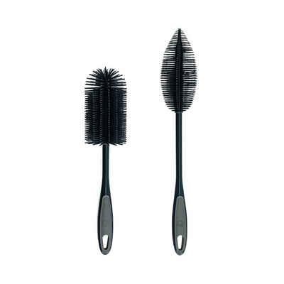 Reinigungsbürsten-Set »Silikon II«, Kochblume, (Spar-Set, 2-tlg), Köpfe untereinander austauschbar