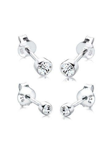 Elli Ohrring-Set »Swarovski® Kristalle Basic Ohrstecker Set Silber«, Basic Ohrstecker