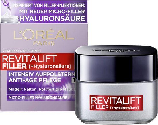 L'ORÉAL PARIS Anti-Aging-Creme »RevitaLift Filler Tag«, mit hochkonzentrierter Hyaluronsäure