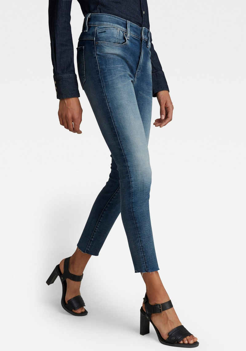 G-Star RAW Skinny-fit-Jeans »Lhana Skinny Ankle Jeans« Cropped Länge mit leicht ausgefranster Kante am Saumabschluss