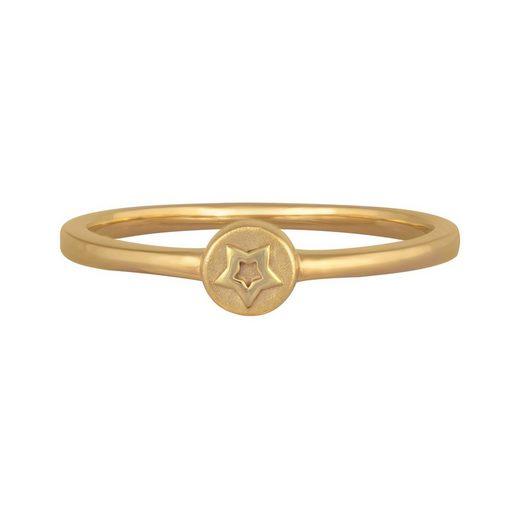 CAÏ Silberring »925/- Sterling Silber vergoldet Stern«